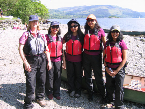 canoeing group ullswater